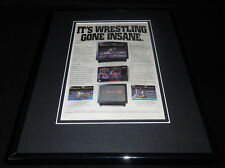 Saturday Night Slam Masters 1994 SNES 11x14 Framed ORIGINAL Advertisement