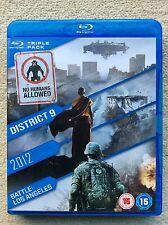 2012 / Battle: Los Angeles / District 9 (Blu-ray, 2011, 3-Disc Set)