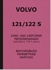 Volvo 121 122 type s F L mode d'emploi Manuel Owner 's Manual description
