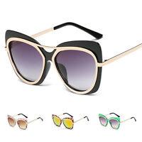 Womens Retro Vintage Cat Eye Mirrored Shades Sunglasses Glasses Eyewear Fashion