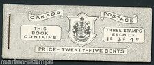 CANADA COMPLETE UNEXPLODED BOOKLET STANLEY GIBBONS #SB48  MINT NH STAMPS