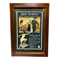 Antique Lady Sealpax Underwear Framed Full Page Advertising Print