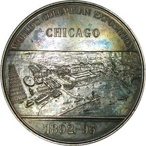 1892-93 EGLIT-99 RARE AR/WM 50.5mm WORLD'S COLUMBIAN EXPO ~ MINT STATE DETAILS!