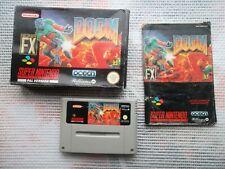 Jeu Super Nintendo / Snes Game Doom Complet CIB PAL Noe + Fah * BIEN LIRE