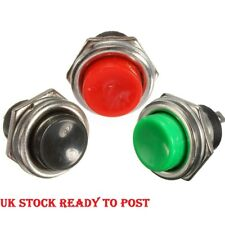 1x3 3A 125V Panel Mounting Momentary SPST Round Push Button Switch OFF-ON Horn