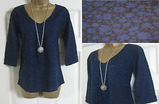 NEW EX WHITE STUFF LADIES BLUE BLACK FLORAL SPRING TOP BLOUSE SHIRT TUNIC 8 - 18