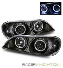 For 00-01 Infiniti I30/02-04 I35 Angel Eye Halo Projector Headlights Black