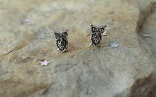 Owl Earrings, Small Sterling Silver Owl Stud Earrings