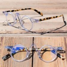 Vintage 36mm Small Round Hand Made Acetate Eyeglass Frames Full Rim Glasses