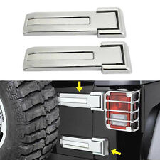 Chrome Dress-Up Kit Rear Door Hinge Covers Trim For 2007-2017 Jeep Wrangler JK