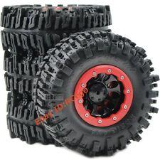 US Shipping 4pc RC Crawler 2.2 Mud Slingers Tires 124mm & 2.2 Beadlock Wheel Rim