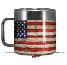 Skin Wrap for Yeti Coffee Mug Painted Faded Cracked USA American Flag
