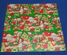 "VINTAGE SANTA TOYS CHILDREN/KIDS CHRISTMAS WRAPPING PAPER 1 SHEET 20""x30"" UNUSED"