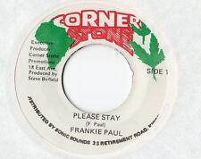 "Frankie Paul - Please Stay 7"" Single / Reggae"