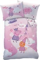 Peppa Pig Wutz Baby Bettwäsche-Set 100/135 + 40/60 cm 100% Baumwolle