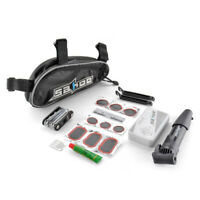 Bicycle Tire Repair Tools Bike Cycling Maintenance Kits Set with Pouch Pump Glue