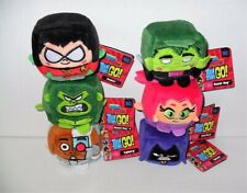 "Kawaii Cubes Dc Teen Titans Go 2"" Inch Plush Set Of (6) New"