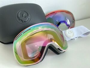 Dragon X1s Whiteout Womens Ski Snowboard Snow Goggles Ionised Pink Lens RRP£175