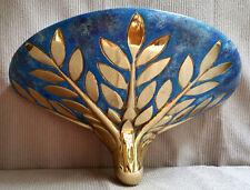 ITALY Arte FIRENZE Brass Sconce Hanging Lamp Enamel Hom Wall Decor Leafs Design