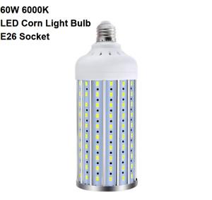 LED Corn Light Bulb 60W E26 Socket 6000K Cool White 500W Equivalent 6500LM