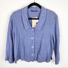 NWT Cut Loose Linen Button Up Shirt Size M $75