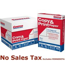 "Costco 2500 Sheets Five Reams Case Copy Paper 20lb, 92 Bright, 8-1/2 x 11"" NEW"