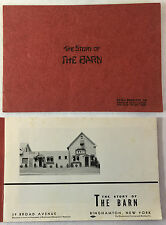 THE STORY OF THE BARN Gift Shop Booklet ~ BINGHAMTON, NEW YORK