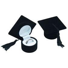 1PCS Jewelry Box Storage Case Bachelor's Hat Ring Holder for Graduation Cerem IH