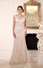 Stella York Wedding Dress Style 6043 Size18 Ivory Over Cafe NEW!