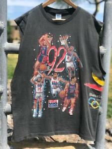 Rare VTG 90s Salem 1992 Dream Team Barcelona Olympic Jordan T Shirt XL/2XL