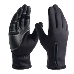 Mens Sports Gloves Winter Warm Windproof Anti-Slip Thermal Touch Screen Gloves