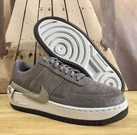 Nike Air Force 1 Jester Low Shoe Gunsmoke Grey Suede BQ3163-001 Women's Size 9.5