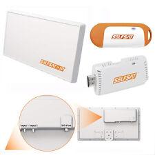Selfsat IP 21 - SAT-2-IP Flachantenne inkl. Selfsat IPD30A SAT>IP Wi-Fi Dongle