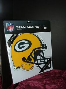 """GREEN BAY PACKERS HELMET LOGO 12""""  TEAM MAGNET NEW MADE IN USA"""