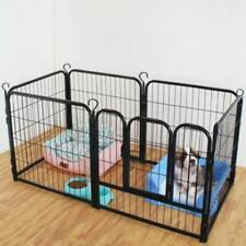 6 Panel Playpen Exercise Foldable Pet Play Pen Puppy Dog Animal Cage Run Fence