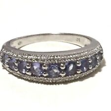 0.80ct TW Genuine Natural Tanzanite Real 925 Sterling Silver Engagement Ring #7