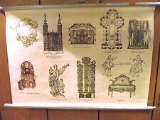 alte karte der rokokostil landkarte schulwandkarte wandkarte rollkarte