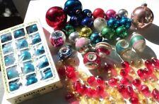 Vintage Glass Christmas Ornaments- Huge Lot- Holly, Shiney Brite, Poland, Japan