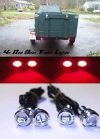 8x Red LED Boat Light Waterproof Wellcraft SCARAB 38 MIAMI VICE Harbor Cruiser
