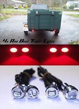 4x Red Universal LED Trailer Lights 12v Lane Marker Lite Waterproof Dirtbike