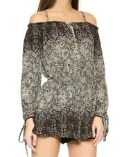 NWT $128 Free People So Divine Off The Shoulder Romper Midnight S