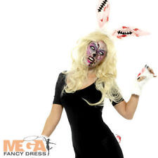 Zombie Bunny Kit Ladies Fancy Dress Halloween Undead Adults Costume Accessory