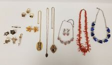 Large Vintage Lot Costume Jewelry- Necklaces, Rings, Broches and Earrings