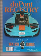 DUPONT REGISTRY MAGAZINE OCTOBER 2015, 9th ANNUAL WATCH GUIDE.