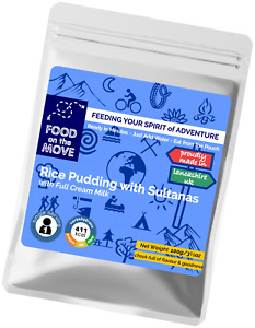 Food Supplies: Lightweight Pouched Dessert, Rice Pudding with Sultanas - 100g