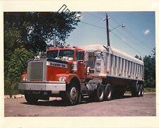 1967-71 DIAMOND REO Tractor & DORSEY Dump 8x10 Glossy COLOR Photo taken 1974