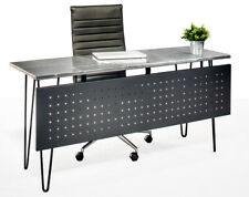 Modern industrial aviator top hairpin writing desk