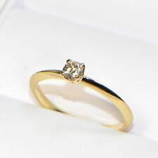 NEU Diamantring 0,19 ct in Gelbgold (18K) Solitär Verlobung Brillant 4 Krappen