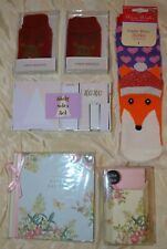 Bundle Christmas stocking fillers/gifts female:socks/hand warmer/book/jotter NEW