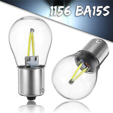 Pair1156 BA15S P21W COB White LED Turn Signal Reverse Light Bulbs DC 12V-24V